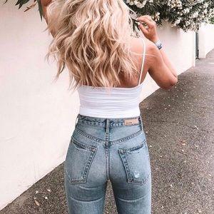 GRLFRND 💖 High Rise Helena Straight Jean